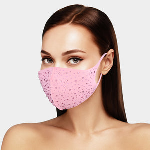 Bling Embellished Fashion Face Mask