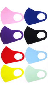 Assorted Solid Color Face Masks