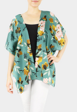 Load image into Gallery viewer, Floral Satin Kimono Poncho - FINAL SALE
