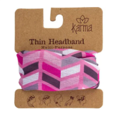 Thin Headband - Pink Arrows