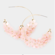 Load image into Gallery viewer, Floral Hoop Earrings