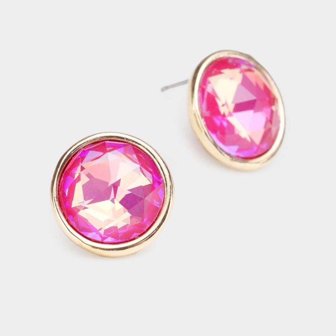 Sparkly Bubble Gum Earrings