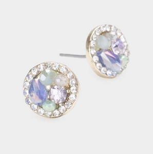 Clustered Round Earring