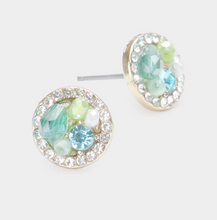 Load image into Gallery viewer, Clustered Round Earring