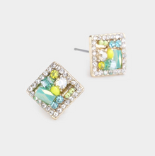 Load image into Gallery viewer, Clustered Square Earrings