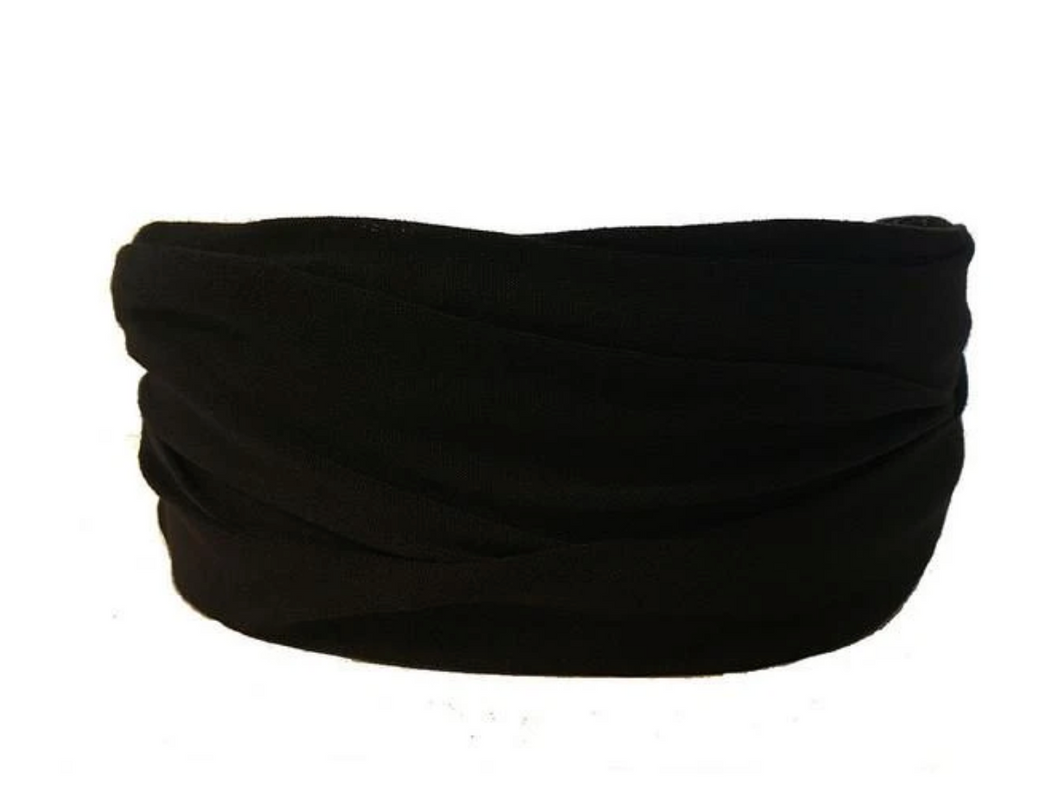 Midnight BlackTube Turban