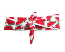 Load image into Gallery viewer, Watermelon Crawl Knotted Headband