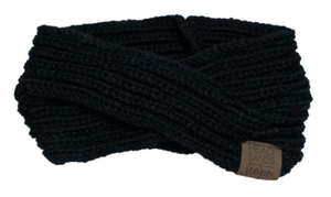 Black Criss Cross Knitted Headband