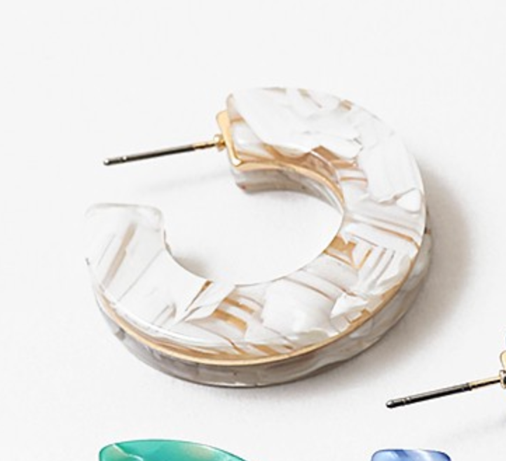 Lucite Hoops