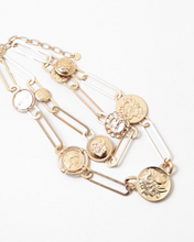 Load image into Gallery viewer, Paperclip + Roman Coin Necklace
