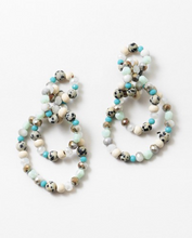 Load image into Gallery viewer, Mint + Dalmatian Loop Hoops