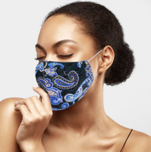 Load image into Gallery viewer, Paisley Blue Mask