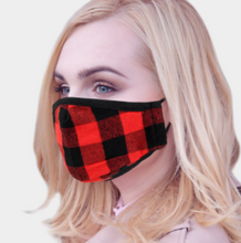 Load image into Gallery viewer, Buffalo Plaid Mask - Red