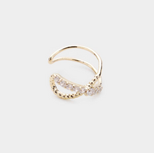 Load image into Gallery viewer, Rhinestone X Ear Cuff