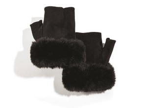 Micro Suede Fingerless Gloves