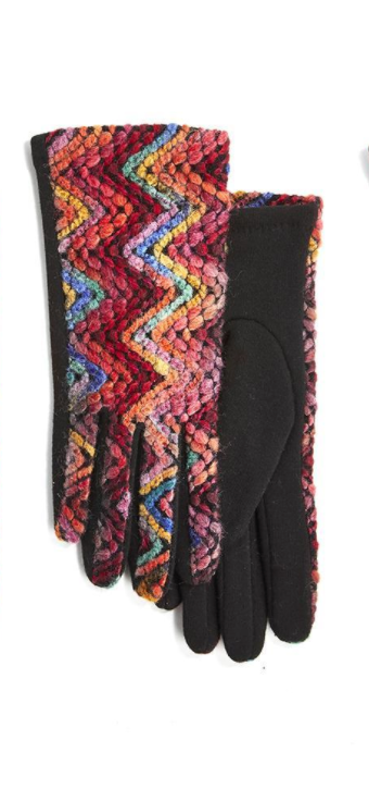 Rainbow Embroidered Gloves