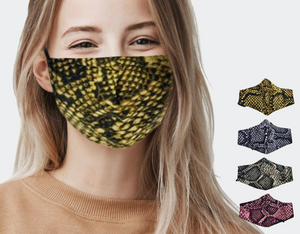 Assorted Snake Skin Print Fashion Masks