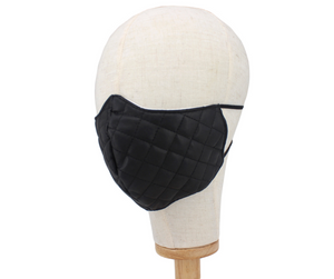 Faux Leather Quilted Mask