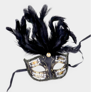 Venetian Feathered Mask