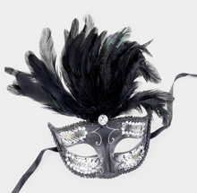 Load image into Gallery viewer, Venetian Feathered Mask