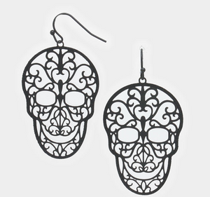 Sugar Skull Filagree Earrings
