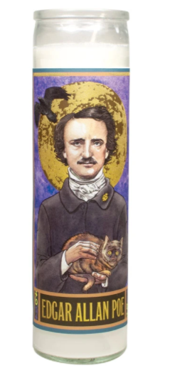 Edgar Allan Poe Secular Saint Candle