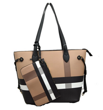 Load image into Gallery viewer, Designer Plaid Handbag