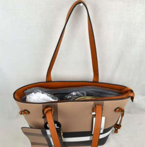 Designer Plaid Handbag