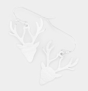 Metal Rudolph Dangle Earrings