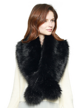 Load image into Gallery viewer, Faux Fur Shawl Scarf with Slit