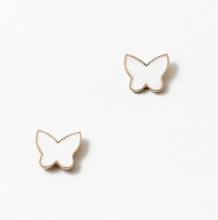 Load image into Gallery viewer, Butterfly Stud Earrings