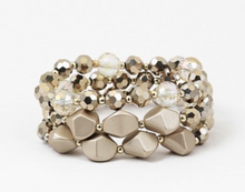 Load image into Gallery viewer, Bead and Crystal Stretch Bracelet