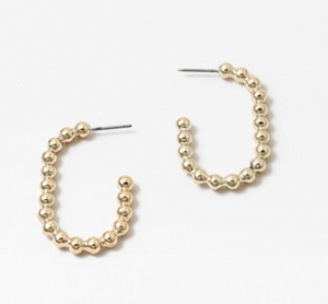 Hoop Ball Earrings
