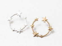 Load image into Gallery viewer, Star Hoop Earrings