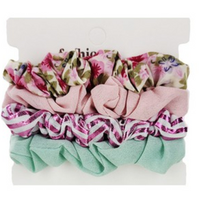 4-pc Multi Scrunchie Set