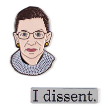 Load image into Gallery viewer, Ruth Bader Ginsburg & I Dissent Pins