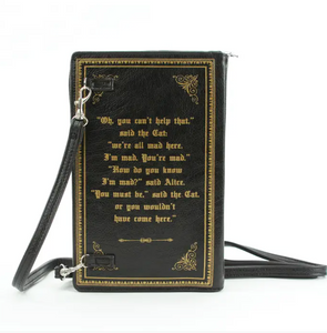 Alice in Wonderland Book Purse