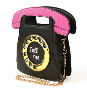 Call Me Vintage Phone Cross Body Purse