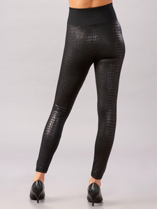 Embossed Fleece Lined Leggings