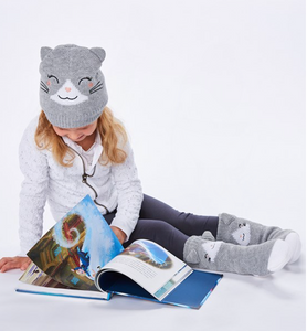 Animal Knit Hat & Mitts - Kids