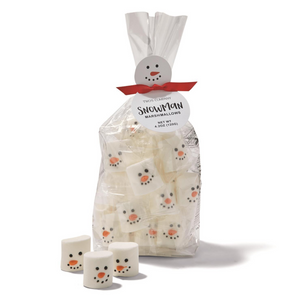 Snowman Marshmallow Candy in Gift Bag