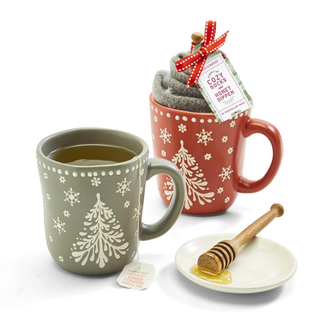 Baby It's Cold Outside Mug w/Socks & Honey Dipper Stirrer