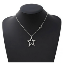 Load image into Gallery viewer, Glass Stone Pave Star Pendant Short Necklace