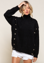 Load image into Gallery viewer, Button Detail Sweater - Black