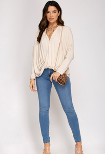 Rib Knit Top - Light Taupe