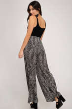 Load image into Gallery viewer, Wide Leg Spotted Pants - Black