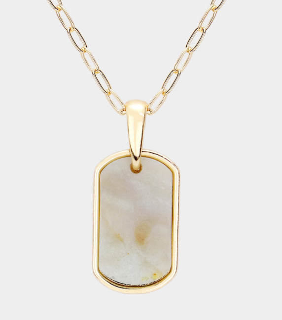 Oblong Jasper Necklace