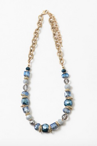 Turquoise Diamond Statement Necklace