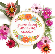 Load image into Gallery viewer, Amazing, Sweetie Cross Stitch Kit