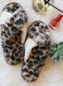 Leopard Animal Print Slippers